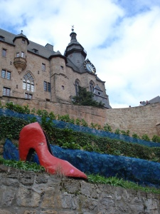 Cinderella's slipper on the 'Grimm trail' below Marburg castle.