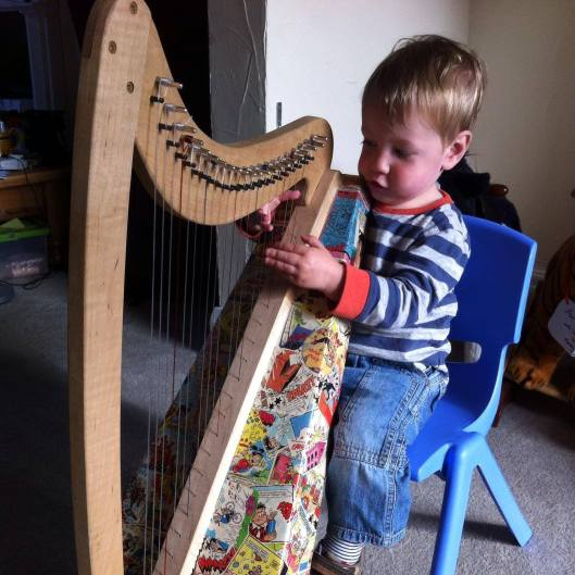 cardboard harp